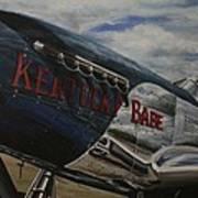 P51 Mustang Kentucky Babe Warbird Art Print
