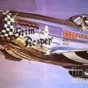 P51d Mustang Grim Reaper Warbird Art Print