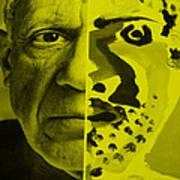 Pablo Yellow Art Print