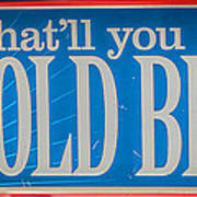 Pabst Cold Beer Sign Key West - Hdr Style Art Print
