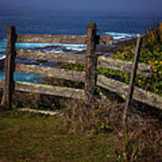 Pacific Coast Fence Art Print