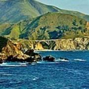Pacific Coast Panorama Art Print by Benjamin Yeager