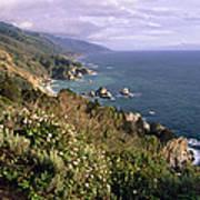 Pacific Coastline At Big Sur Art Print by George Oze