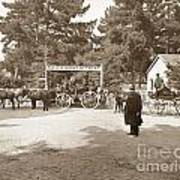Pacific Grove Retreat Gate On Lighthouse At Grand Aves  With  O. J. Johnson Circa 1880 Art Print