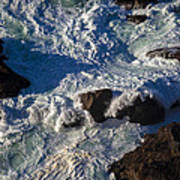 Pacific Ocean Against Rocks Art Print
