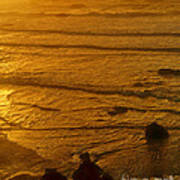 Pacific Ocean Sunset Bandon Beach Oregon Art Print