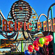 Pacific Park On The Pier Art Print