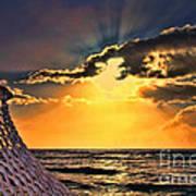 Pacific Sunset By Diana Sainz Art Print