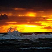 Pacific Sunset Drama Art Print