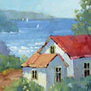 Pacific View Cottage Art Print