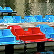 Paddle Boats Art Print