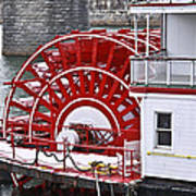 Paddle Wheel Art Print by Tom and Pat Cory