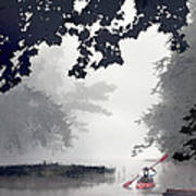 Paddling Towards The Unknown Art Print