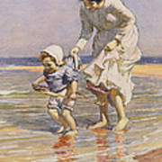 Paddling Art Print by William Kay Blacklock