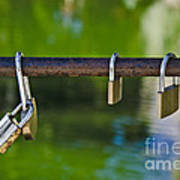 Padlocks Art Print by Victoria Herrera
