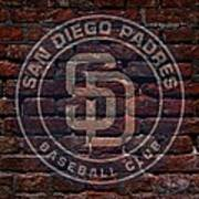 Padres Baseball Graffiti On Brick  Print by Movie Poster Prints