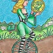 Page Of Coins - Good News Art Print by Joy Saethre