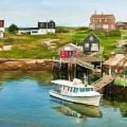 Peggy's Cove Boat Tours Art Print