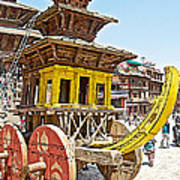 Pagoda-style Carriage In Bhaktapur Durbar Square In Bhaktapur-nepal Art Print