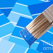 Paint Brush - Blue Art Print