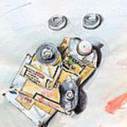 Paint Tubes Art Print