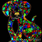 Painted Black Dog Art Print by Nick Gustafson