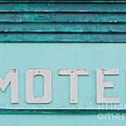 Painted Blue-green Historic Motel Facade Siding Art Print