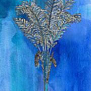 Painted Blue Palm Art Print