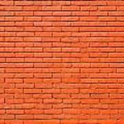 Painted Brick Wall Art Print