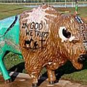 Painted Buffalo Art Print