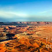 Painted Canyonland Print by Robert Bales