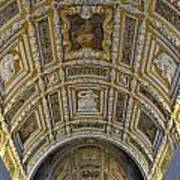 Painted Ceiling Of Staircase In Doges Palace Art Print by Sami Sarkis