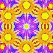 Painted Cymatics 161.66hz Art Print