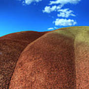 Painted Hills Blue Sky 2 Art Print