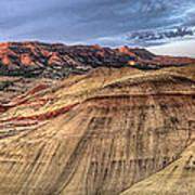 Painted Hills In Oregon Panorama Art Print