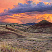 Painted Hills Sunset Art Print