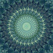 Painted Kaleidoscope 6 Art Print