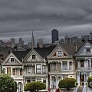 Painted Ladies Ready For The Rain Art Print