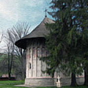 Painted Monastery Art Print