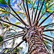 Painted Palms Art Print
