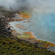 Painted Pool Of Yellowstone Art Print