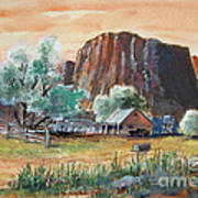 Painted Ranch Art Print