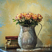 Painted Roses Art Print by Terry Rowe