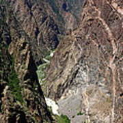 Painted Wall Black Canyon Of The Gunnison Art Print