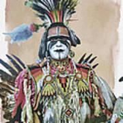 Painted  Warrior  Art Print