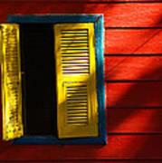 Painted Window - Mike Hope Art Print