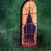 Painted Window Art Print