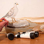Painting A Dove Art Print