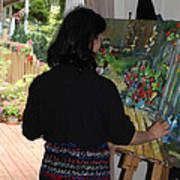 Painting My Backyard 2 Art Print by Becky Kim