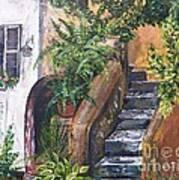 Painting    Siesta Steps Art Print